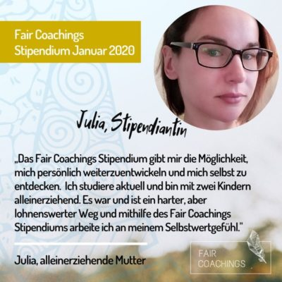 Stipendiatin Fair Coachings